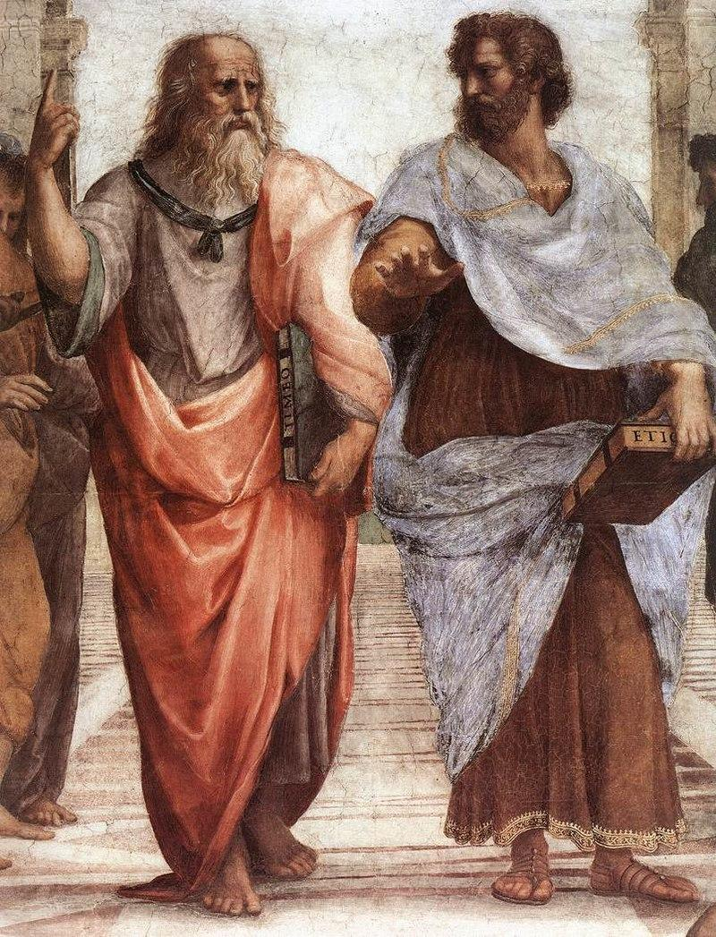 Crooped of the School of Athens