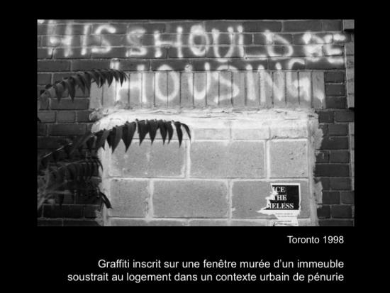 Fig. 5: Lachapelle, Louise. «This should be housing»